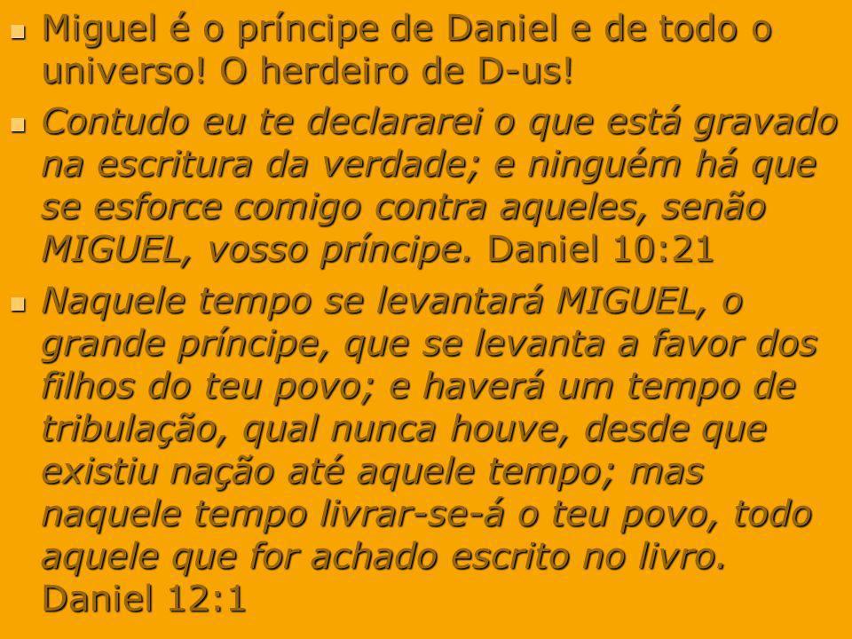 Miguel é o príncipe de Daniel e de todo o universo! O herdeiro de D-us!