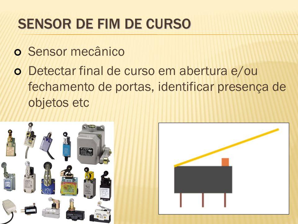 Sensor de fim de curso Sensor mecânico
