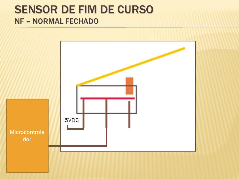 Sensor de fim de curso NF – Normal Fechado
