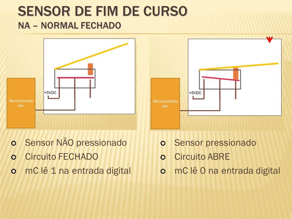 Sensor de fim de curso NA – Normal FECHADO
