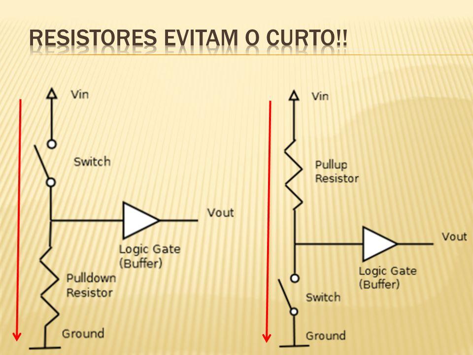 Resistores evitam o curto!!