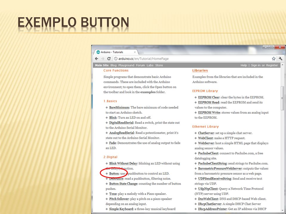 EXEMPLO button