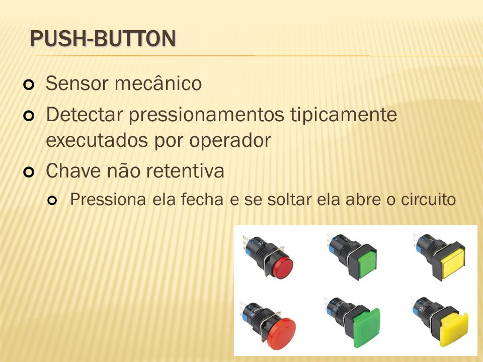 PUSH-BUTTON Sensor mecânico