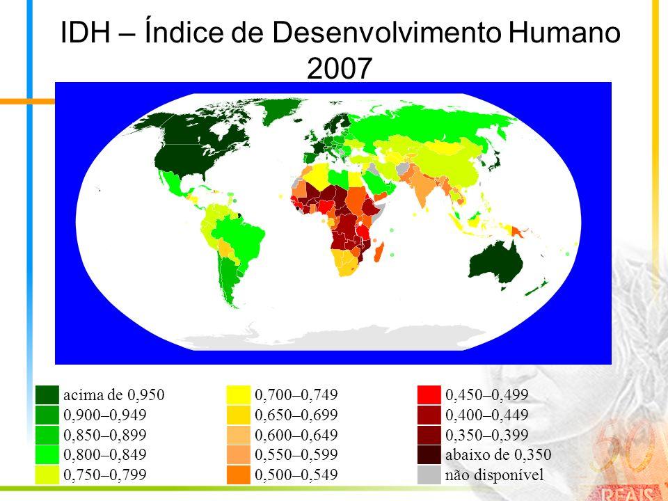 IDH – Índice de Desenvolvimento Humano 2007