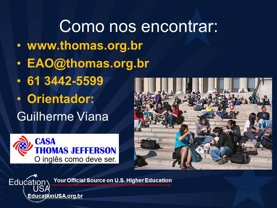 Como nos encontrar: www.thomas.org.br EAO@thomas.org.br 61 3442-5599