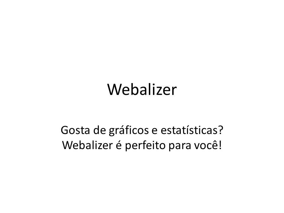 Gosta de gráficos e estatísticas Webalizer é perfeito para você!