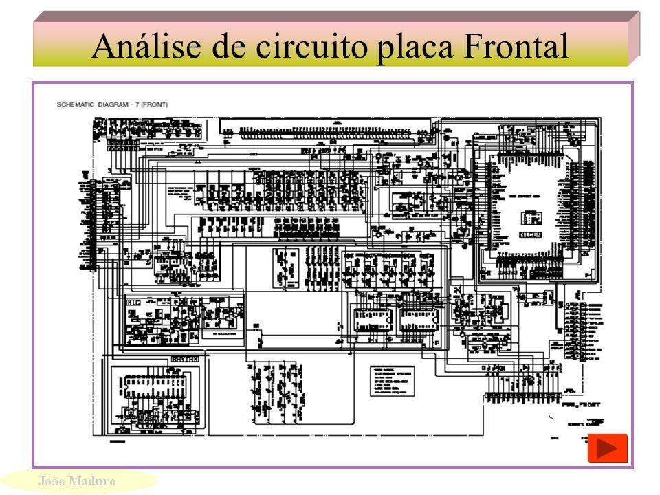 Análise de circuito placa Frontal