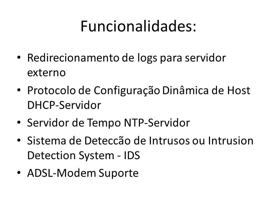 Funcionalidades: Redirecionamento de logs para servidor externo