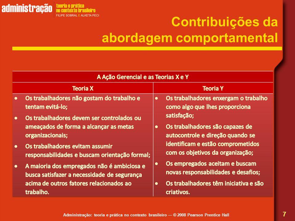 Contribuições da abordagem comportamental