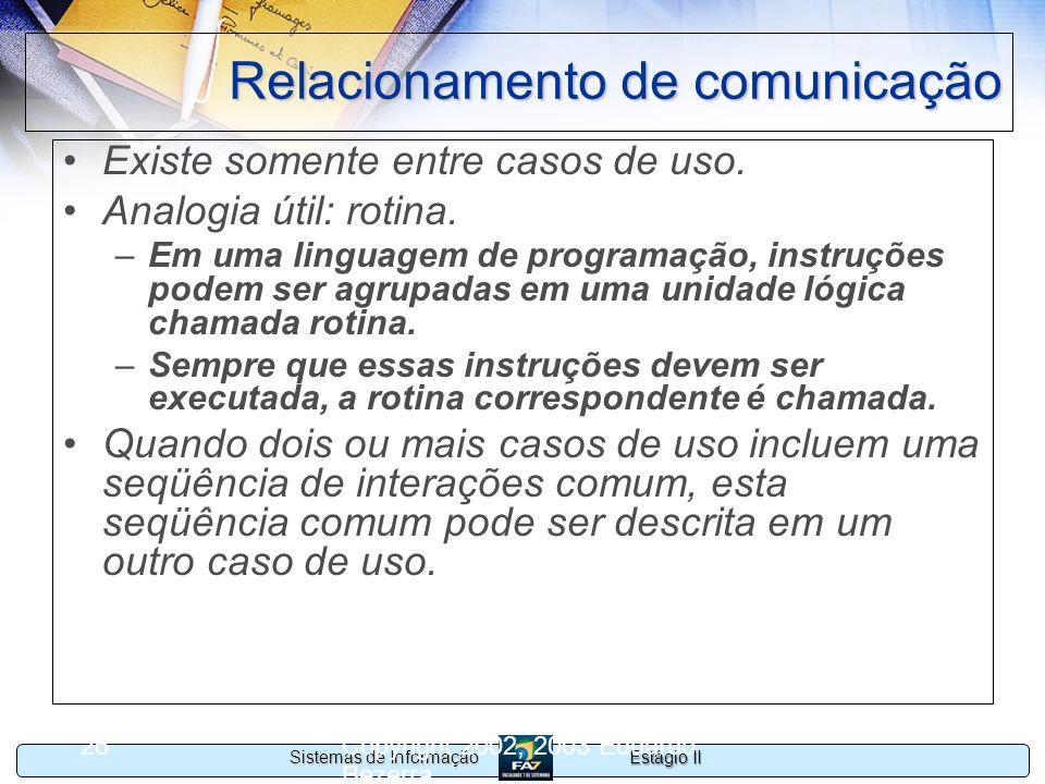 Relacionamento de comunicação