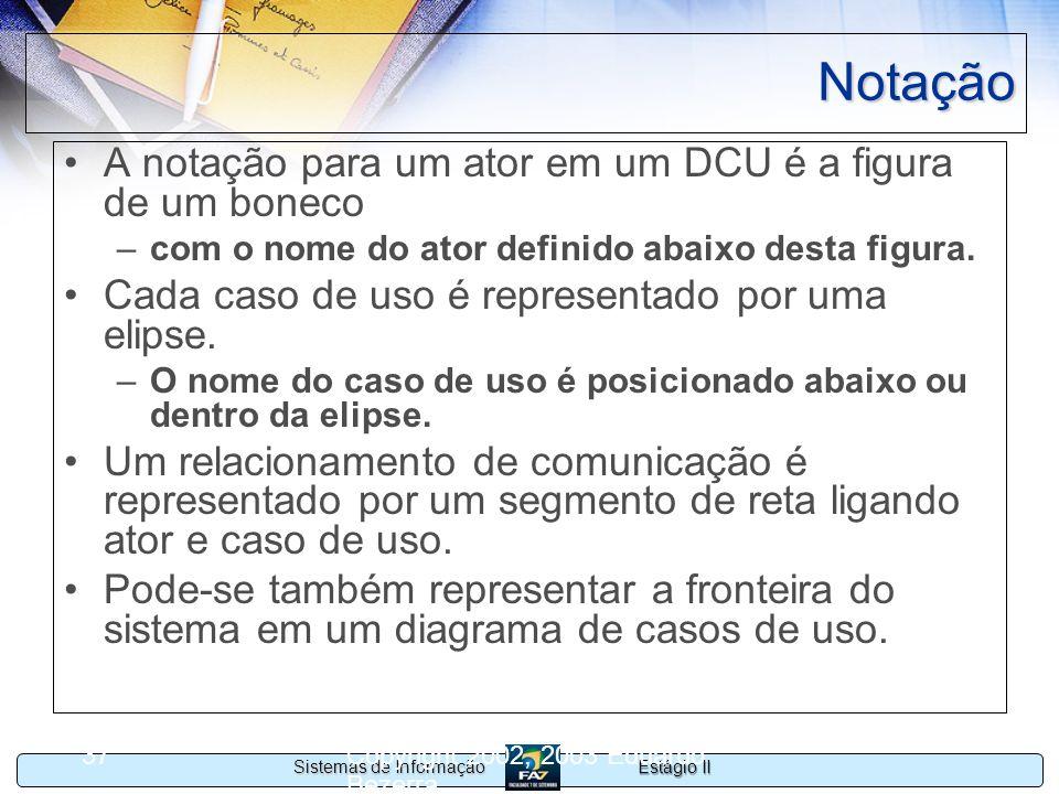 Notação A notação para um ator em um DCU é a figura de um boneco