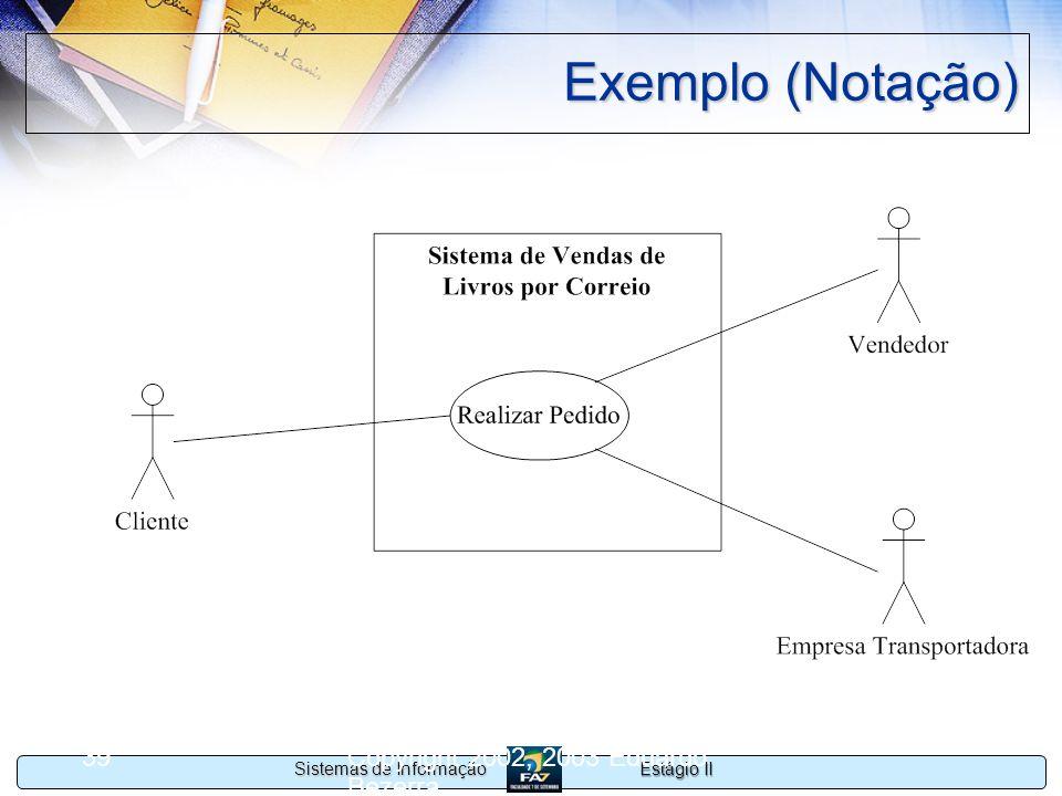 Exemplo (Notação) Copyright 2002, 2003 Eduardo Bezerra