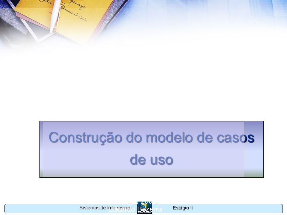 Construção do modelo de casos de uso