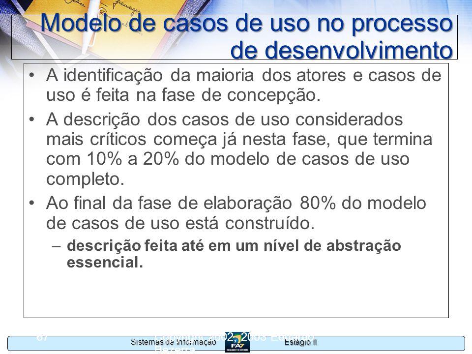 Modelo de casos de uso no processo de desenvolvimento
