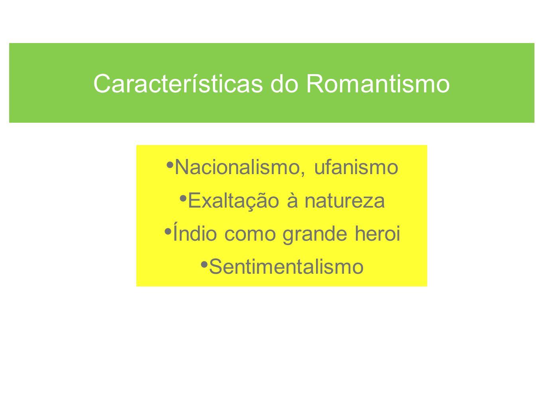 Características do Romantismo