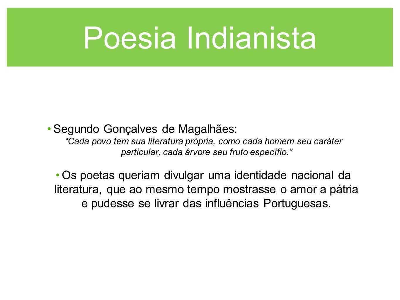 Poesia Indianista Segundo Gonçalves de Magalhães: