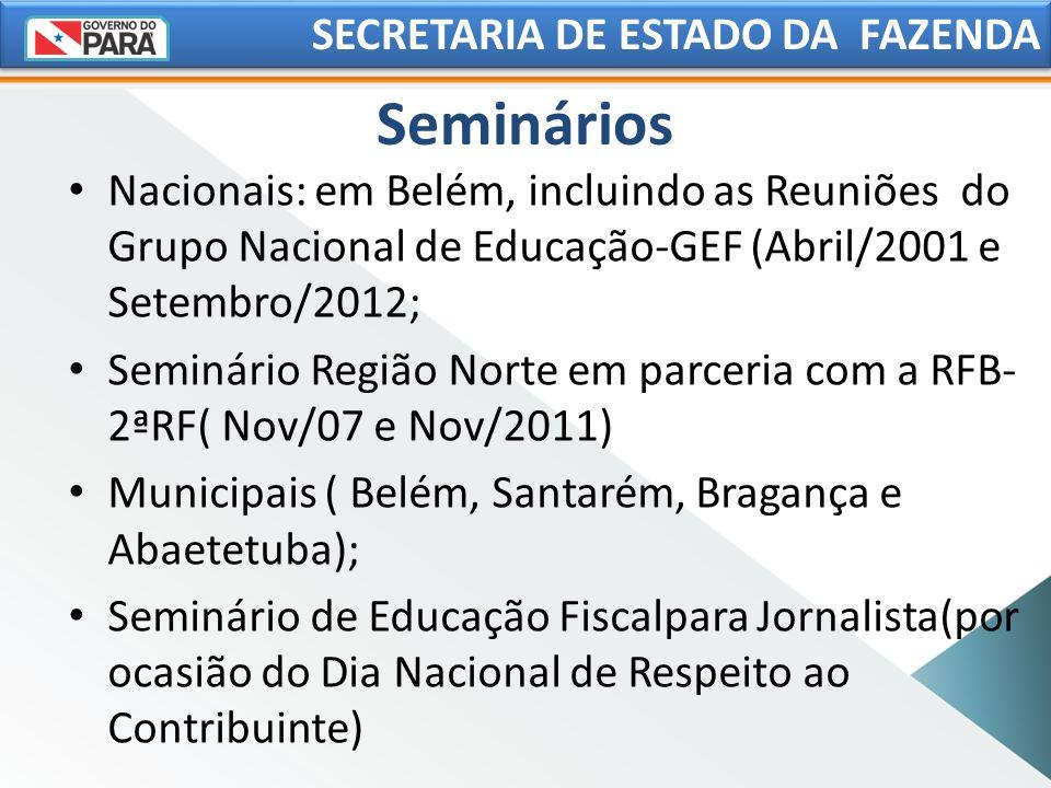 Seminários SECRETARIA DE ESTADO DA FAZENDA