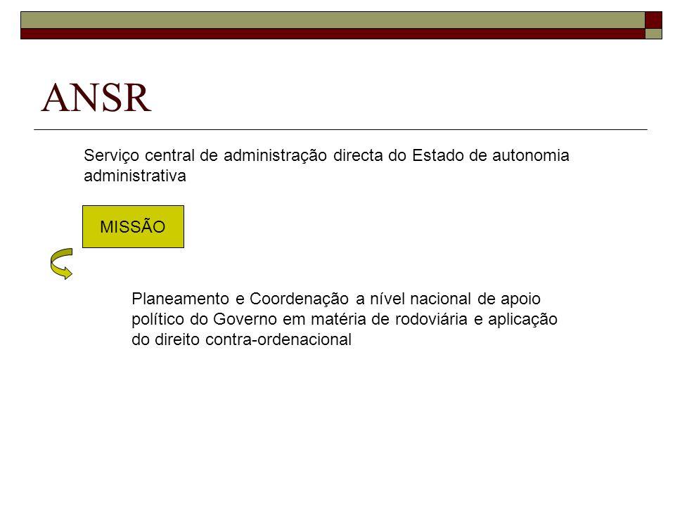 ANSR Serviço central de administração directa do Estado de autonomia administrativa. MISSÃO.