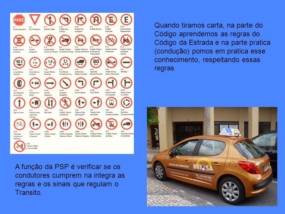 Quando tiramos carta, na parte do Código aprendemos as regras do Código da Estrada e na parte pratica (condução) pomos em pratica esse conhecimento, respeitando essas regras