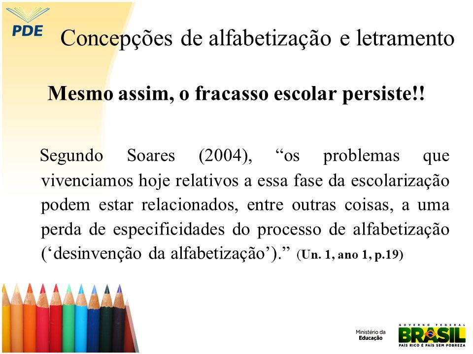 Concepções de alfabetização e letramento