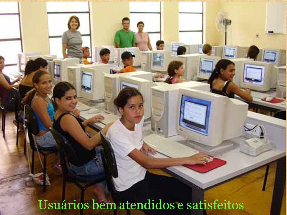 Usuários bem atendidos e satisfeitos