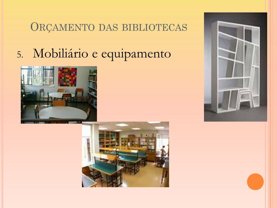 Orçamento das bibliotecas