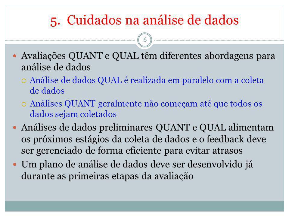 5. Cuidados na análise de dados