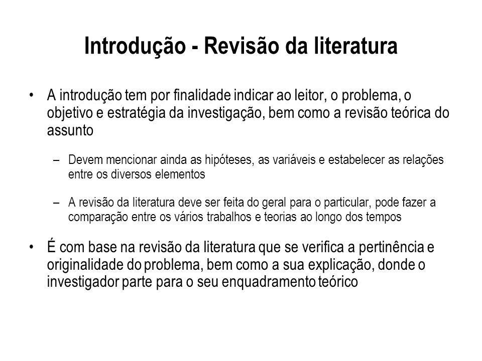 Introdução - Revisão da literatura