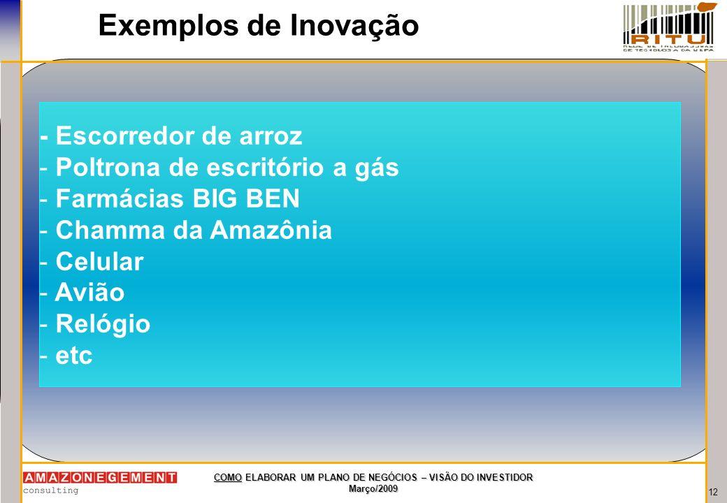 Exemplos de Inovação - Escorredor de arroz