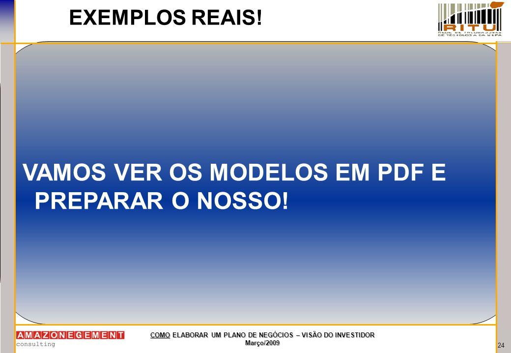 VAMOS VER OS MODELOS EM PDF E PREPARAR O NOSSO!