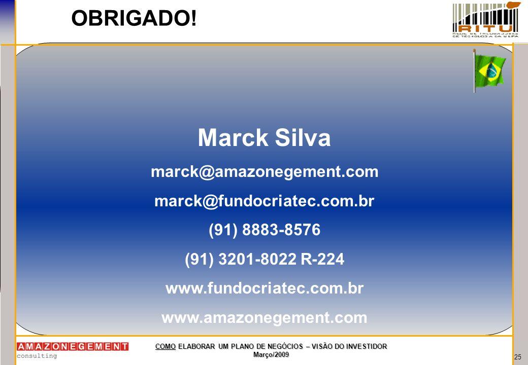 Marck Silva OBRIGADO! marck@amazonegement.com