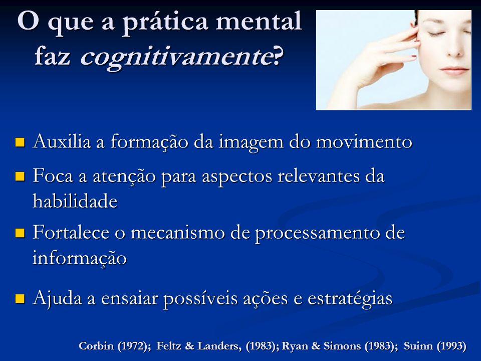 O que a prática mental faz cognitivamente