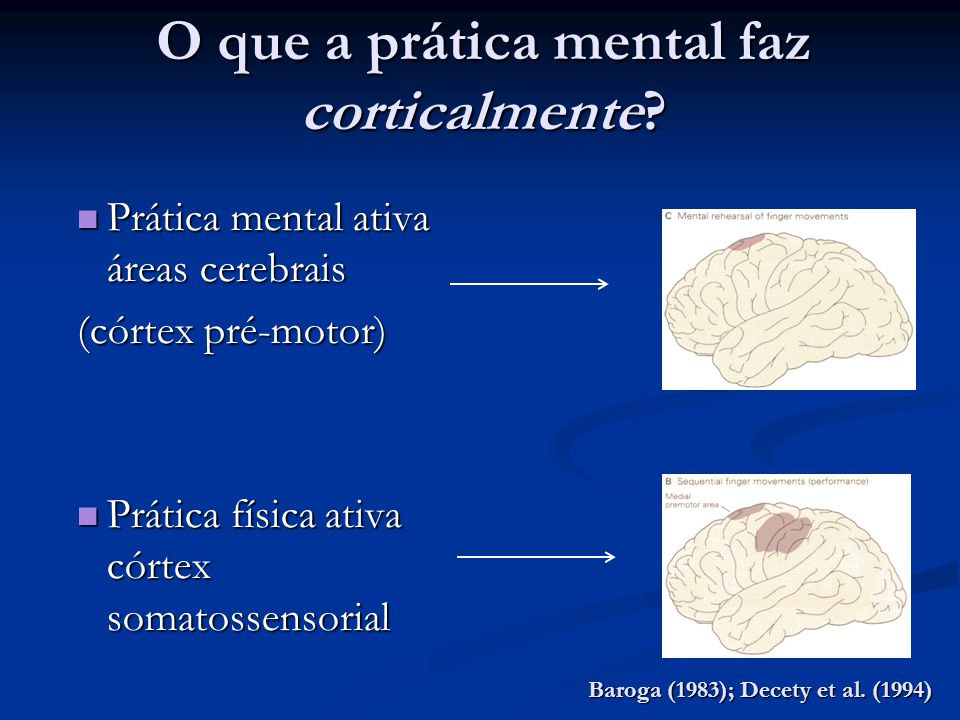 O que a prática mental faz corticalmente
