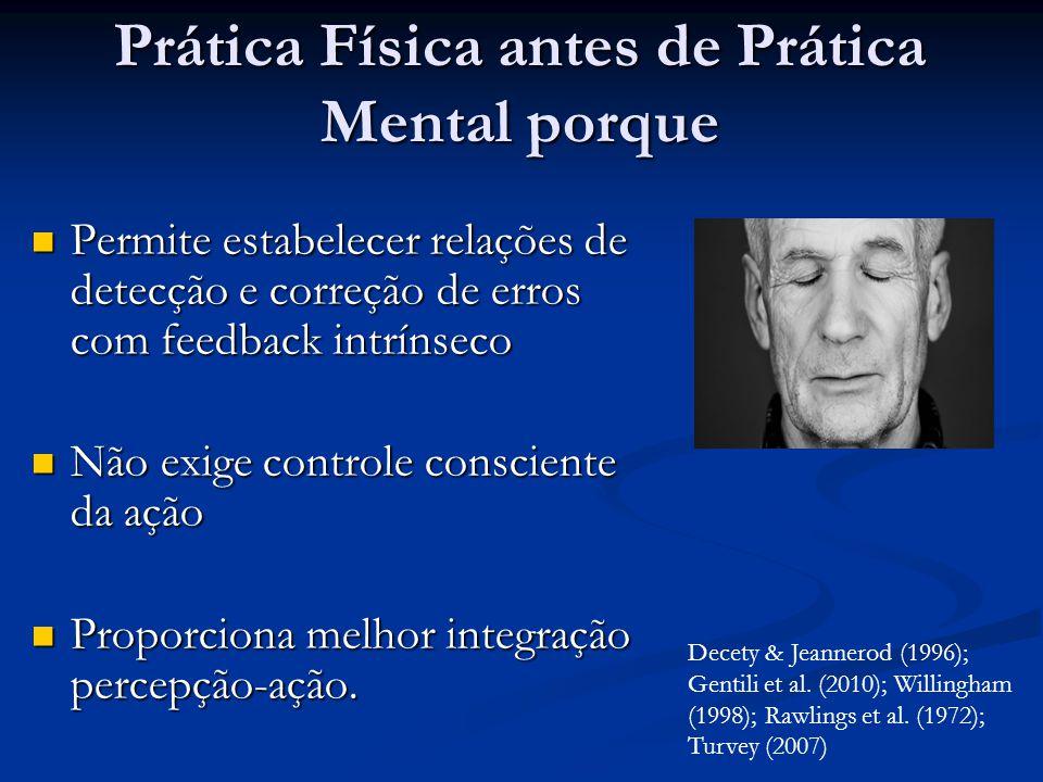 Prática Física antes de Prática Mental porque
