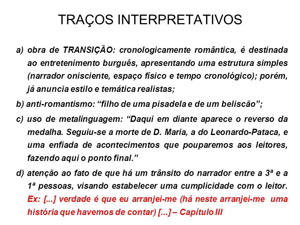 TRAÇOS INTERPRETATIVOS