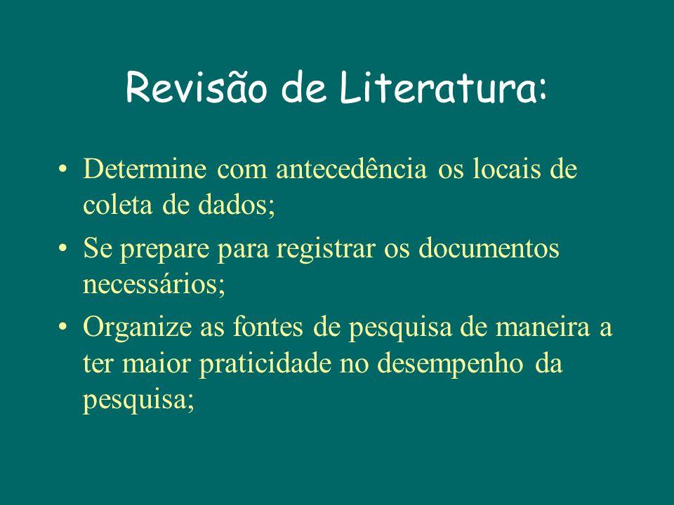 Revisão de Literatura: