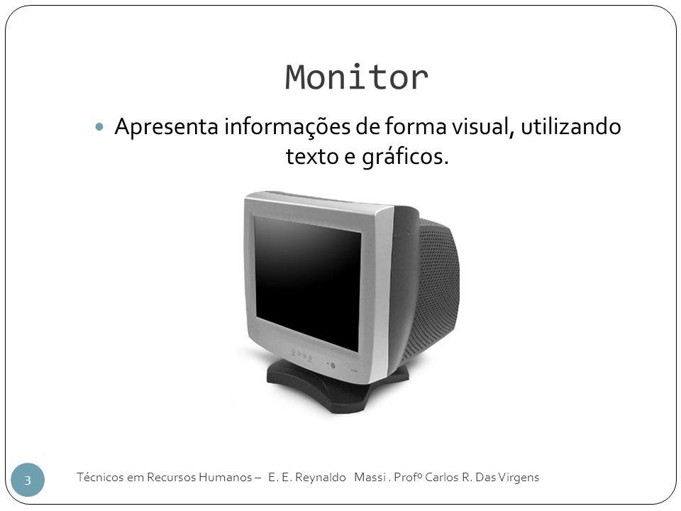 Apresenta informações de forma visual, utilizando texto e gráficos.