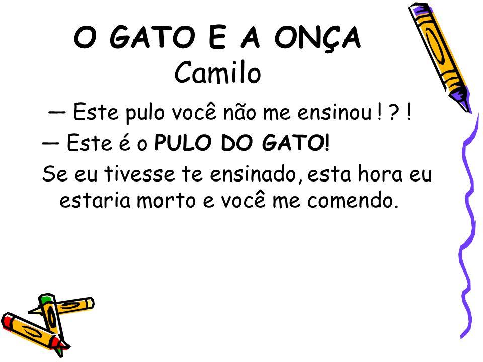 O GATO E A ONÇA Camilo — Este pulo você não me ensinou ! !