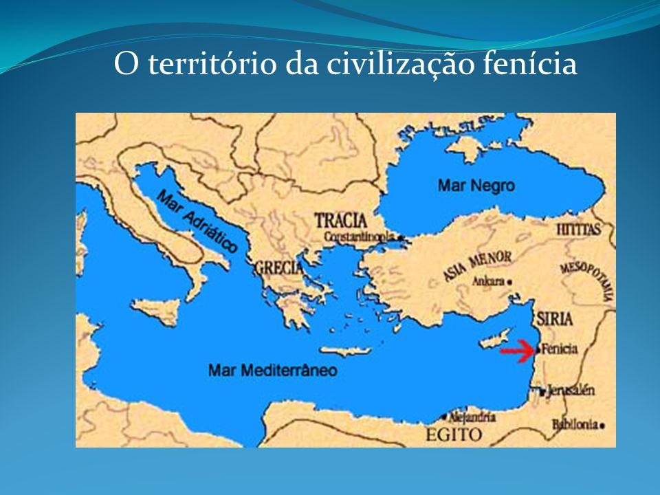 O território da civilização fenícia