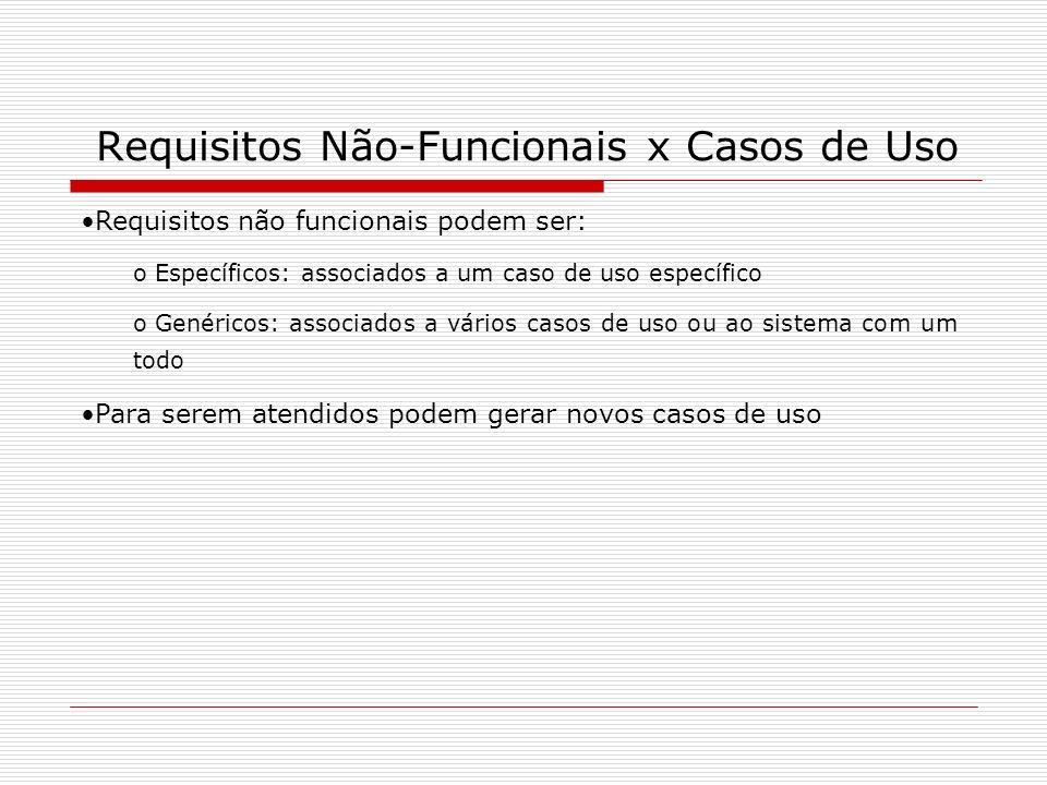 Requisitos Não-Funcionais x Casos de Uso