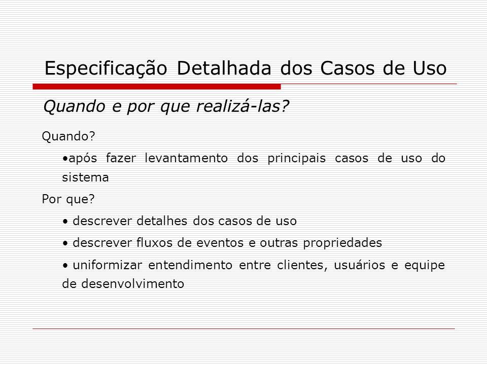 Especificação Detalhada dos Casos de Uso