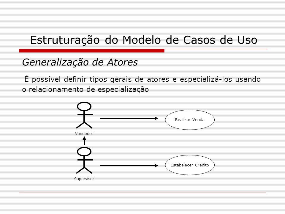 Estruturação do Modelo de Casos de Uso