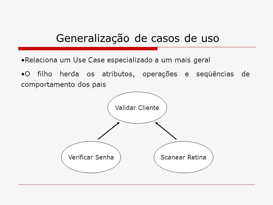 Generalização de casos de uso