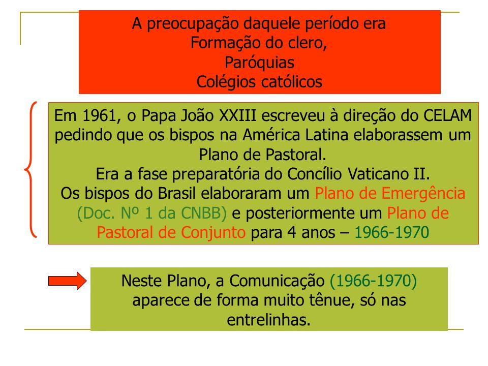 A preocupação daquele período era Formação do clero, Paróquias Colégios católicos