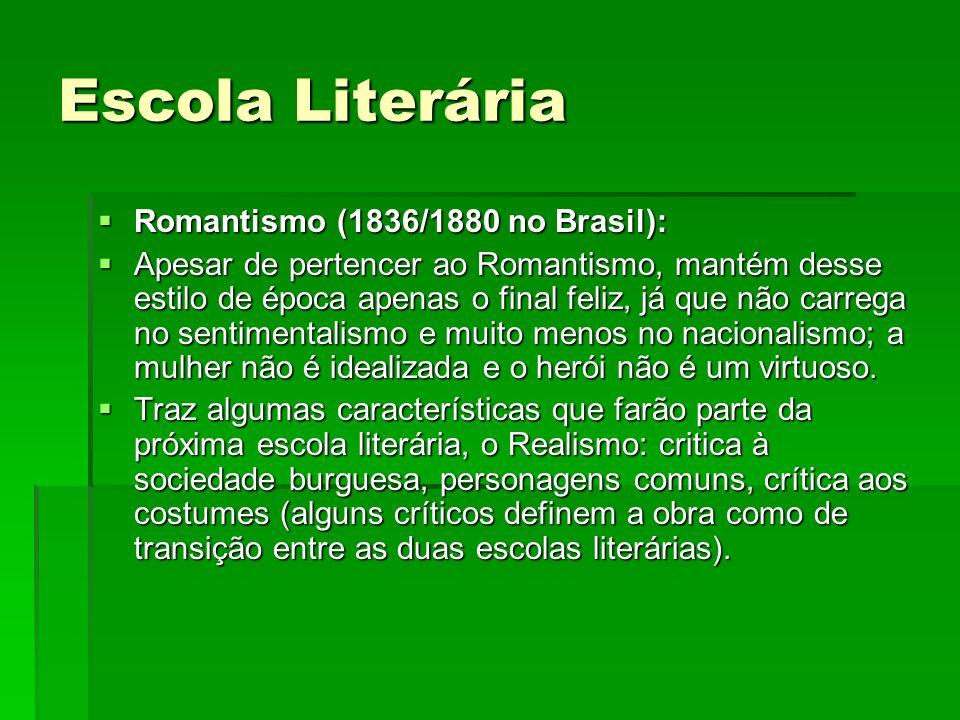 Escola Literária Romantismo (1836/1880 no Brasil):