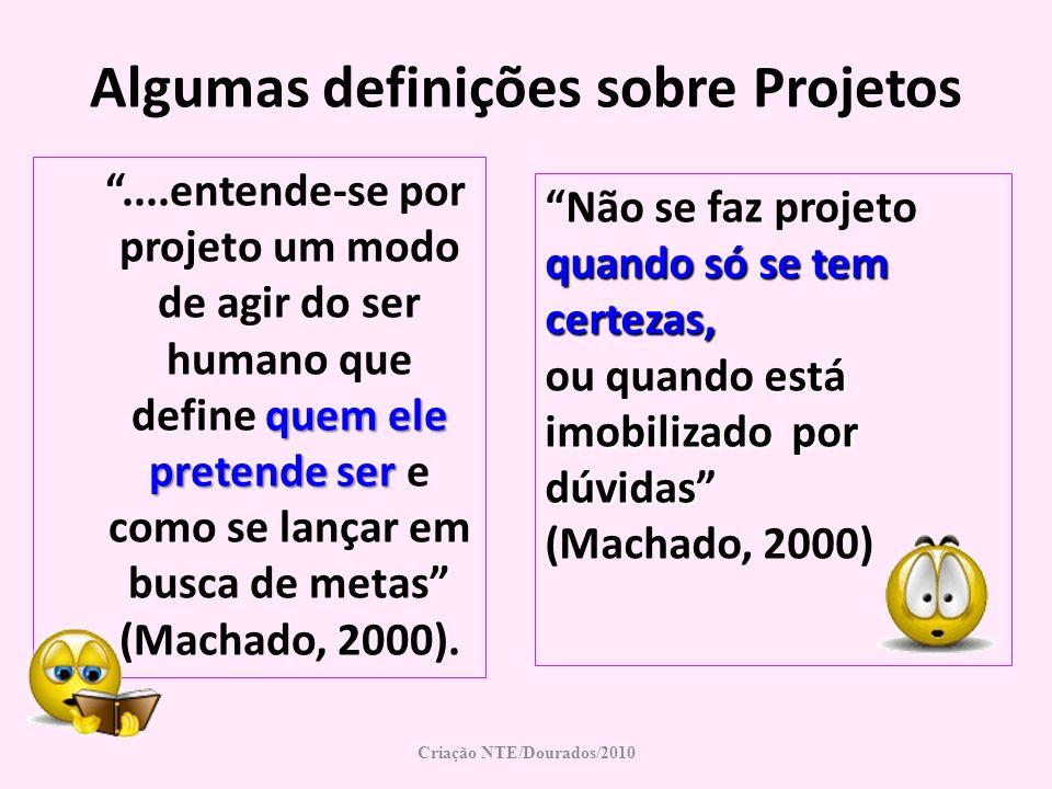 Algumas definições sobre Projetos Criação NTE/Dourados/2010