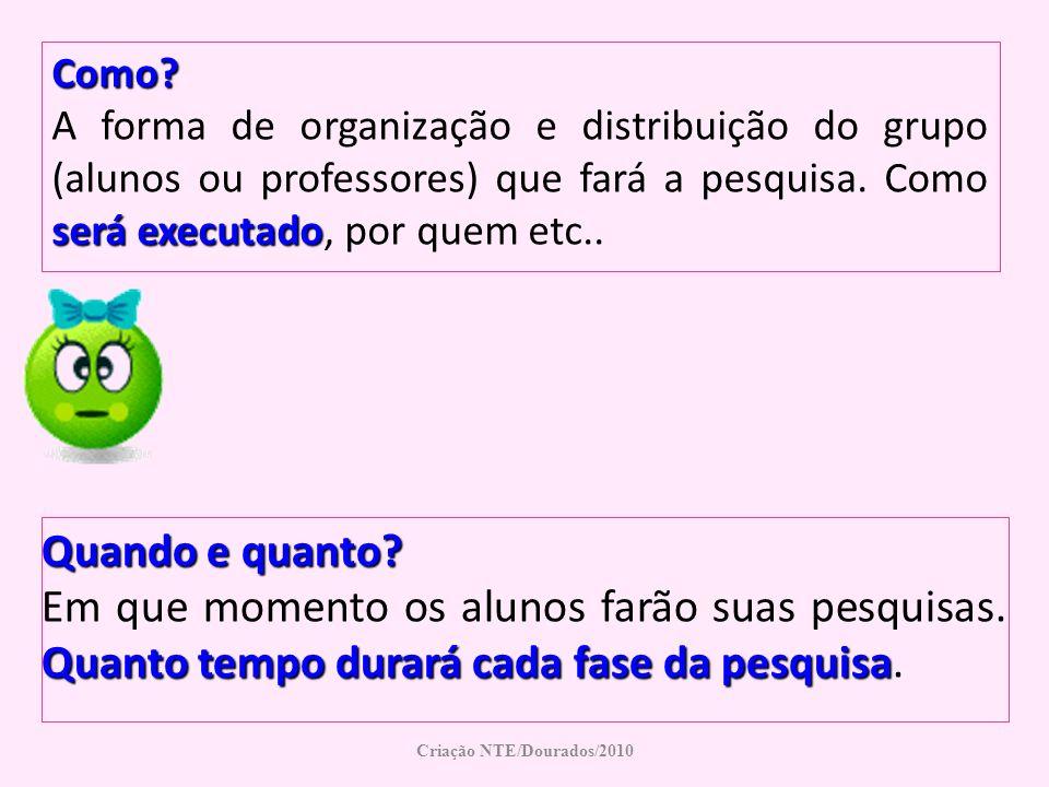 Criação NTE/Dourados/2010