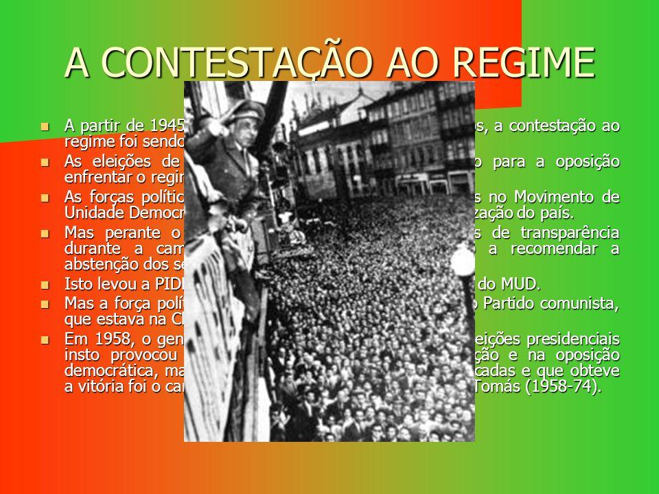 A CONTESTAÇÃO AO REGIME