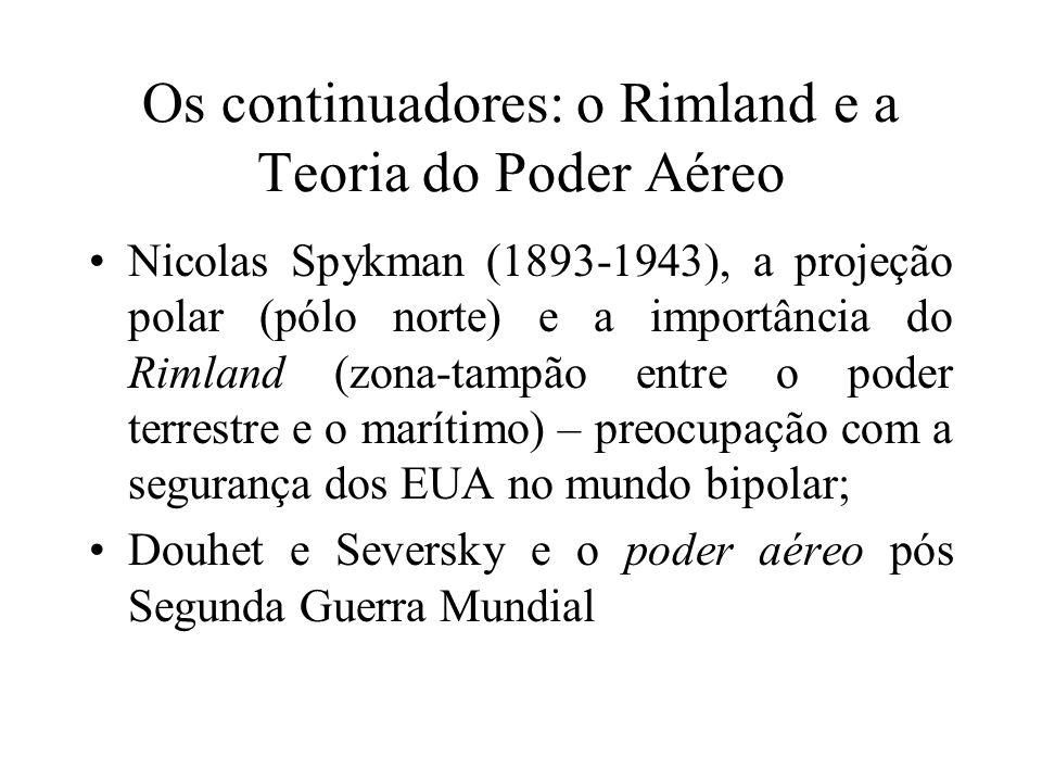 Os continuadores: o Rimland e a Teoria do Poder Aéreo