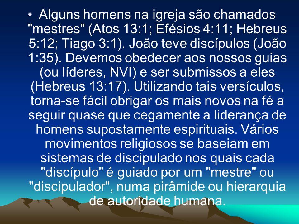 Alguns homens na igreja são chamados mestres (Atos 13:1; Efésios 4:11; Hebreus 5:12; Tiago 3:1).